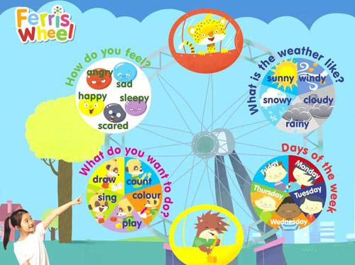 石家庄优加青少英语启蒙英语课程使用Ferris Wheel教材